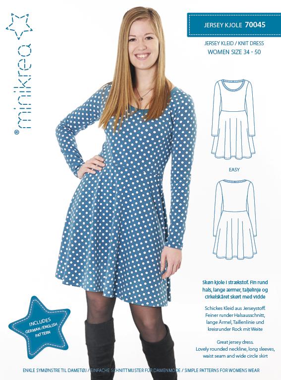 Schnittmuster Jersey Kleid – Gr. 34-50 (Woman) - Minikrea 70045 ...