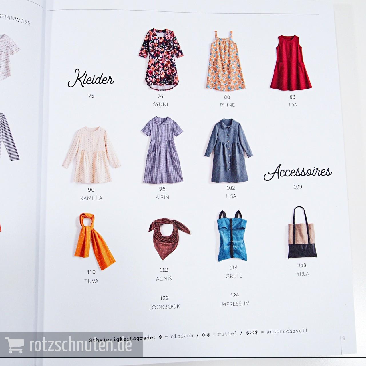 Der Rosa P Kleiderschrank 23 Schnittmuster In Grosse 36 46 Mit 2