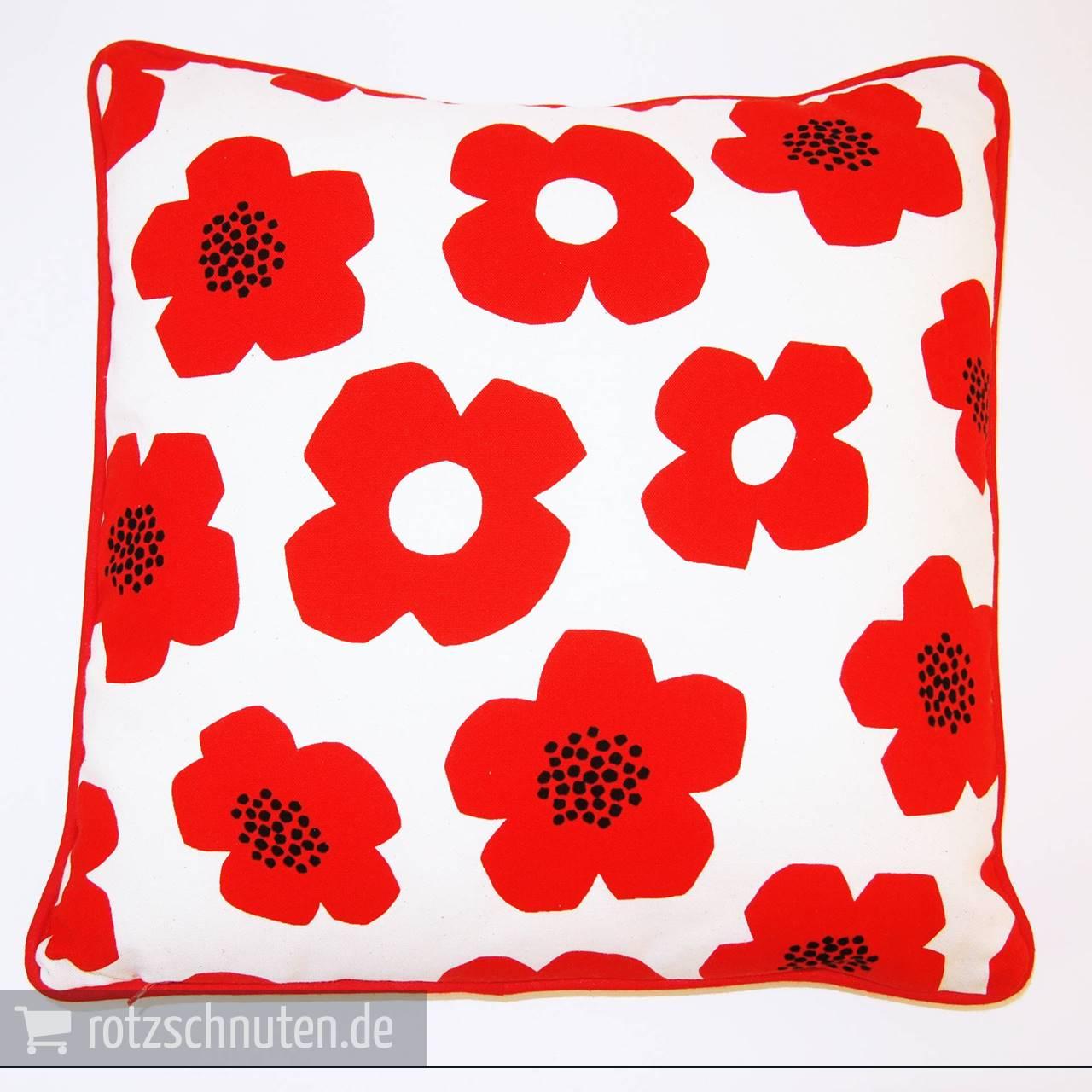 deko wende kissen h lle scandinavian no 1 baumwolle canvas bl ten rot rotznasen zuckerschnuten. Black Bedroom Furniture Sets. Home Design Ideas